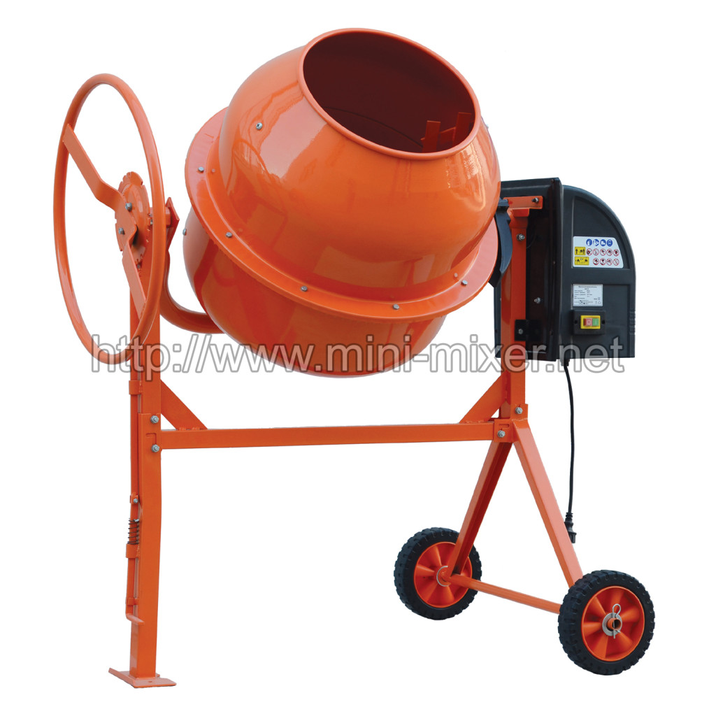 160L 180L 200L Mini Electric Engine Power Cement Mixer